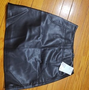 NEW H&M Faux Leather Skirt